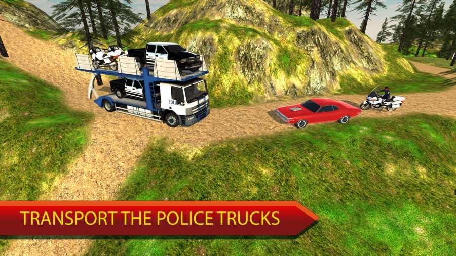 越野警察卡车运输模拟器截图2