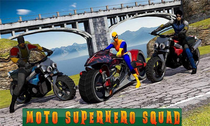 超级摩托车英雄:极限特技自行车赛车3D截图1
