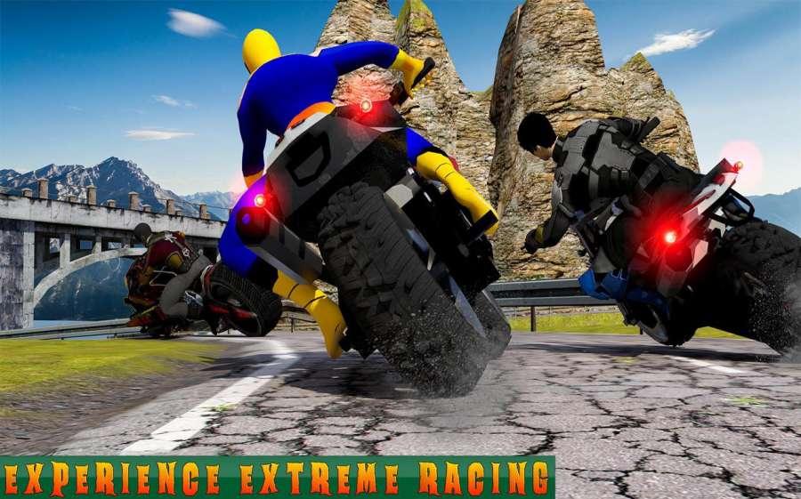 超级摩托车英雄:极限特技自行车赛车3D截图2