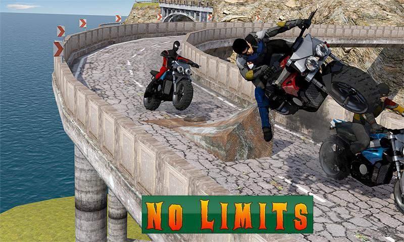 超级摩托车英雄:极限特技自行车赛车3D截图4