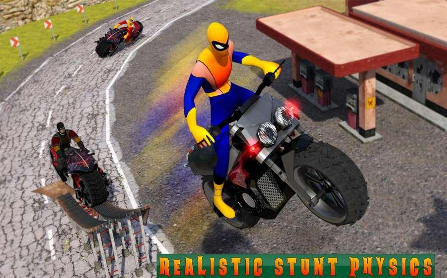 超级摩托车英雄:极限特技自行车赛车3D截图5