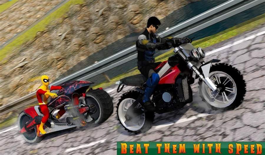 超级摩托车英雄:极限特技自行车赛车3D截图7