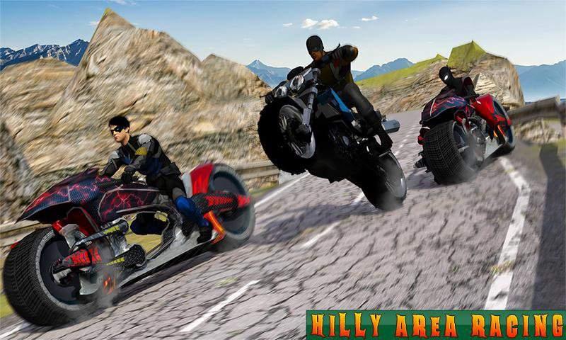 超级摩托车英雄:极限特技自行车赛车3D截图9