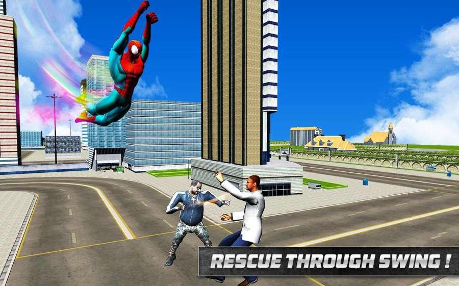 Spider Hero in Action: Street Fighting City Battle截图0