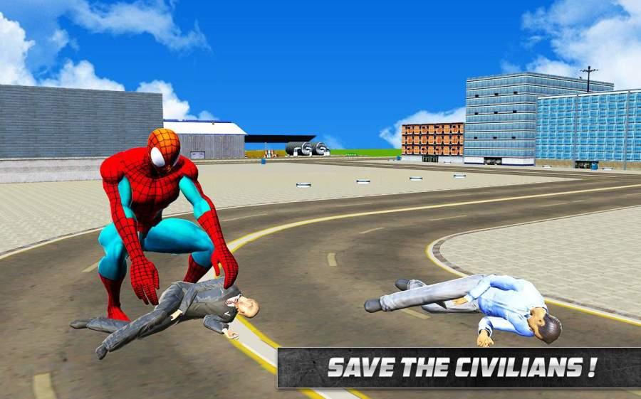 Spider Hero in Action: Street Fighting City Battle截图1