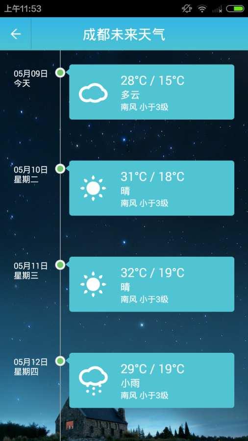 本地天气预报截图2