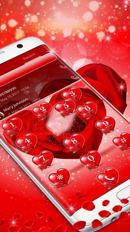 紅玫瑰花瓣主題截图1