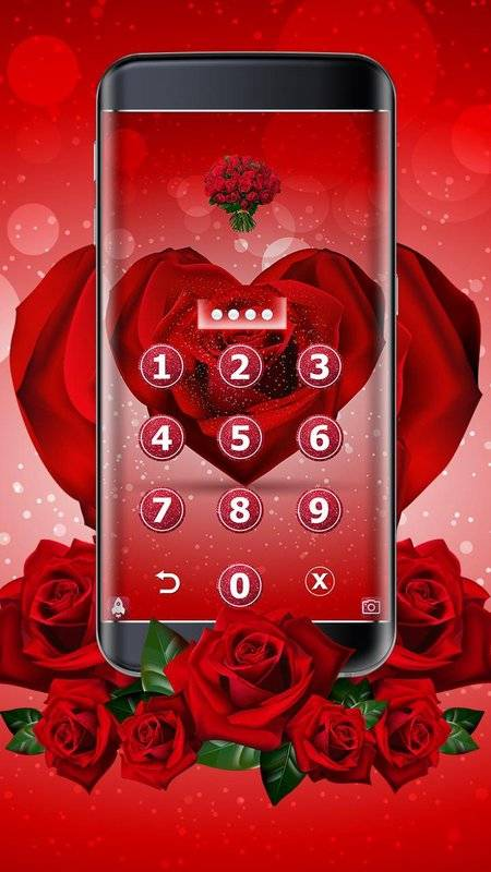 紅玫瑰花瓣主題截图4