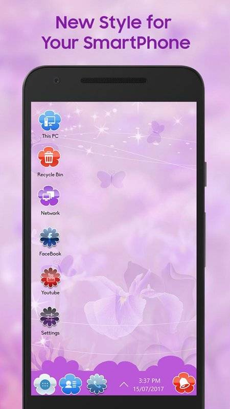 Flower Theme for Computer launcher