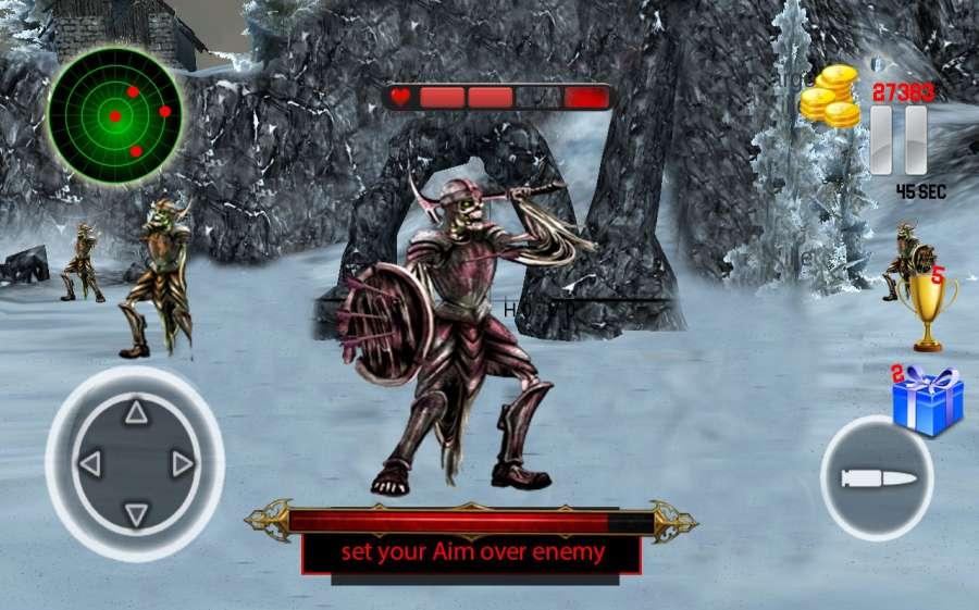 骷髅战士攻击 - 隐藏的史诗般的战争截图0