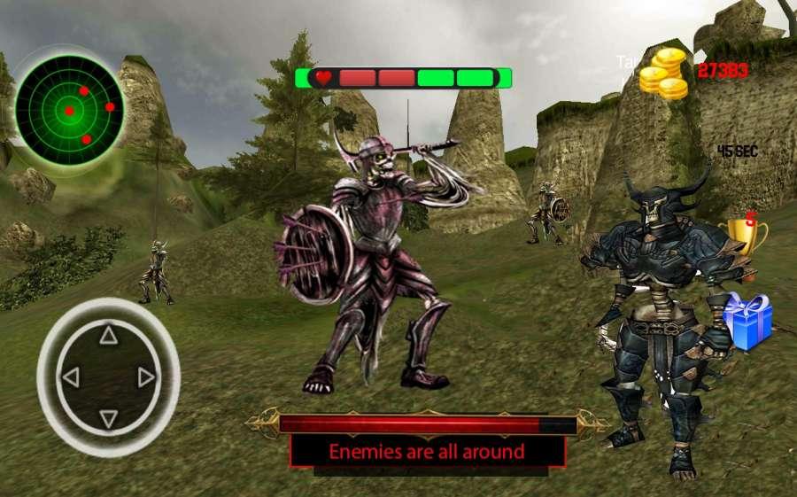 骷髅战士攻击 - 隐藏的史诗般的战争截图1