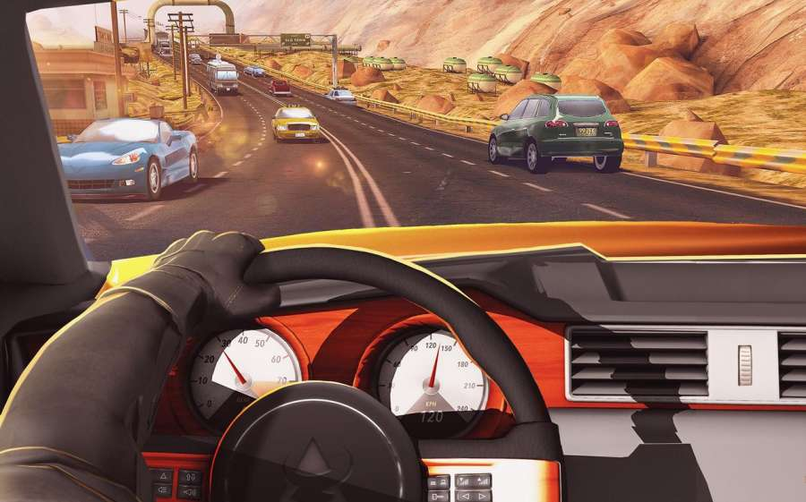 Traffic Xtreme 3D: Fast Car Racing & Highway Speed截图4