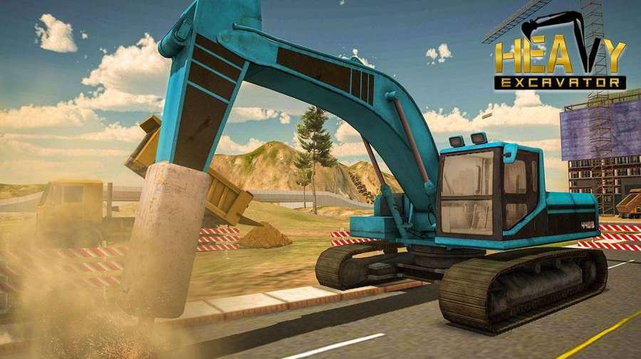 重型挖掘机城市建设模拟器