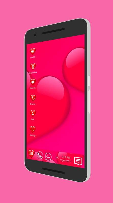 Love Theme For Computer Launcher