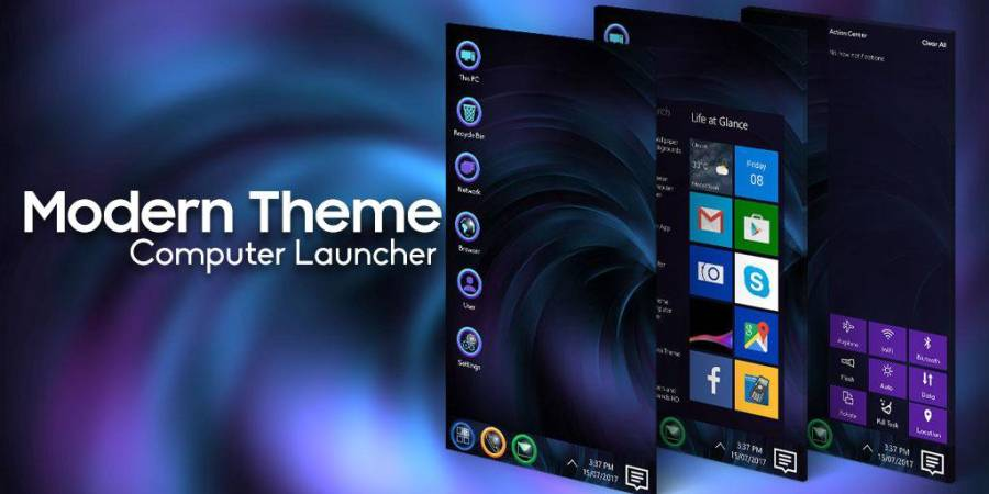 Modern Theme For Computer Launcher
