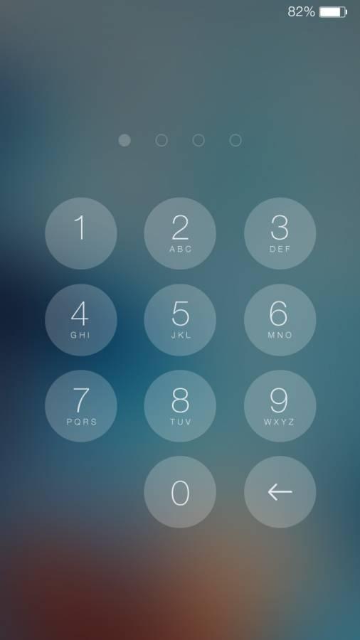最美iOS8主题锁屏截图4