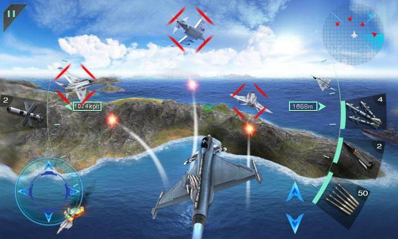 Sky Fighters 3D截图0