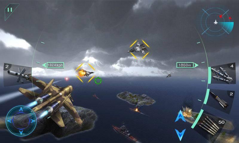 Sky Fighters 3D截图2