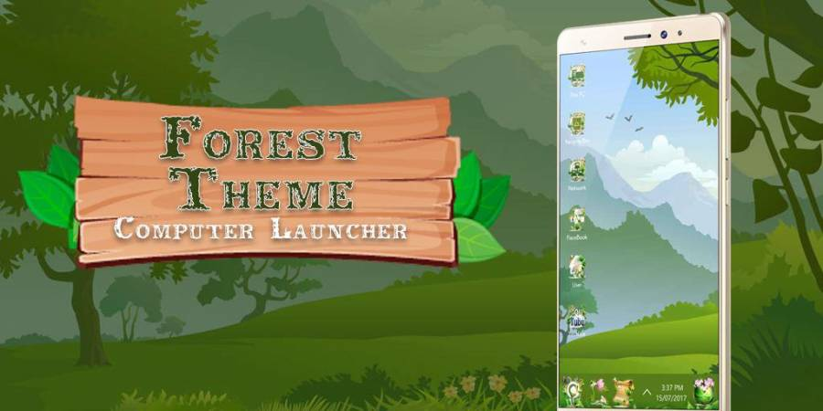 Forest Theme For Computer Launcher
