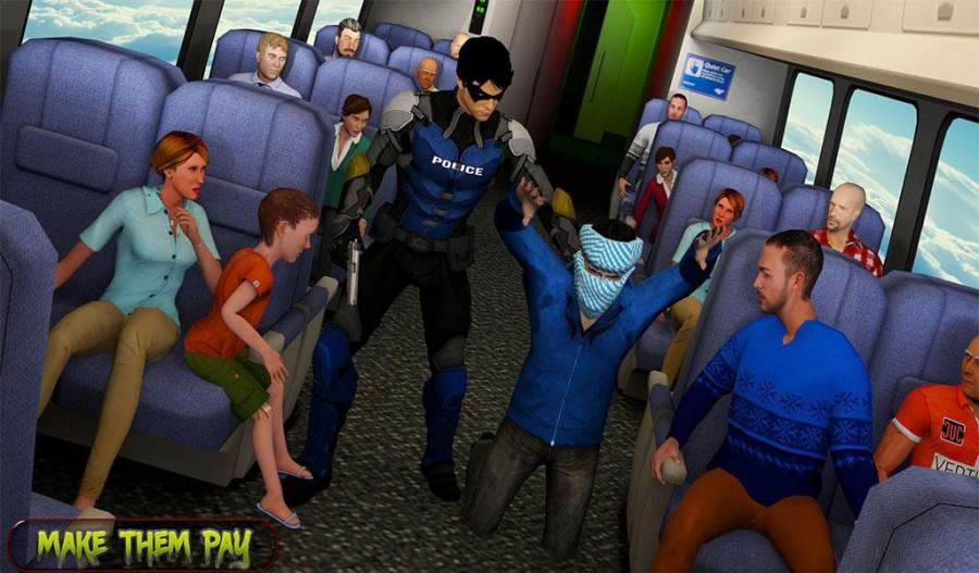 超级救援英雄:飞机劫持飞行行动截图0