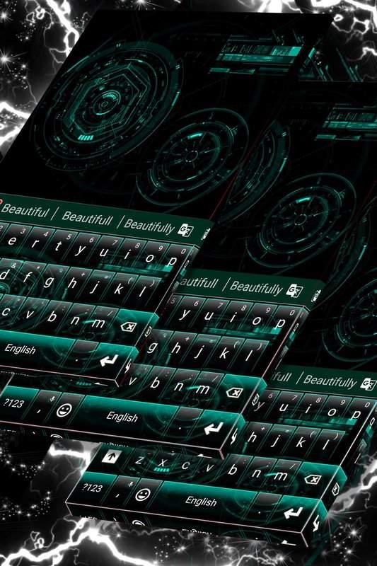 技术黑键盘主题