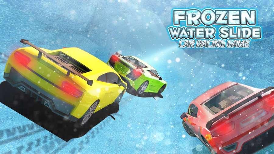 冻结的 水 滑动 汽车 赛跑 游戏 - 最好 应用 2017年