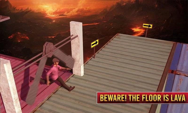 生存跑障碍课程:地板是熔岩3D