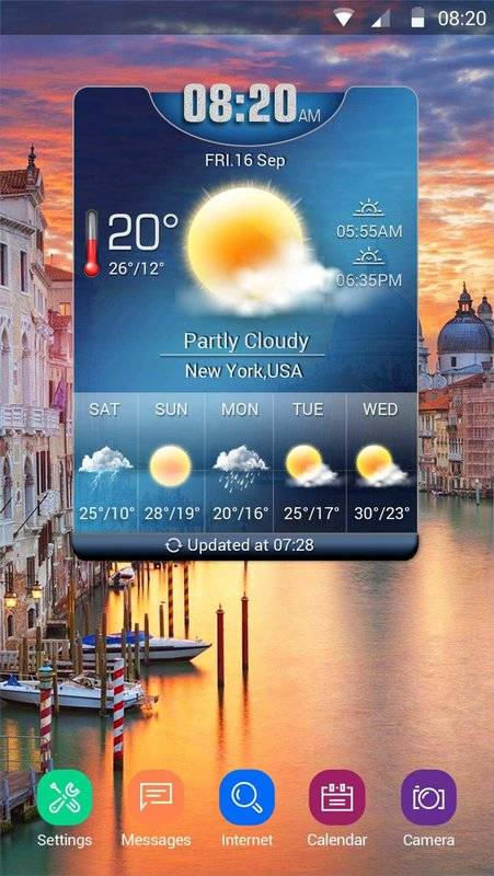 Weather Card with 5 Day Forecast截图0