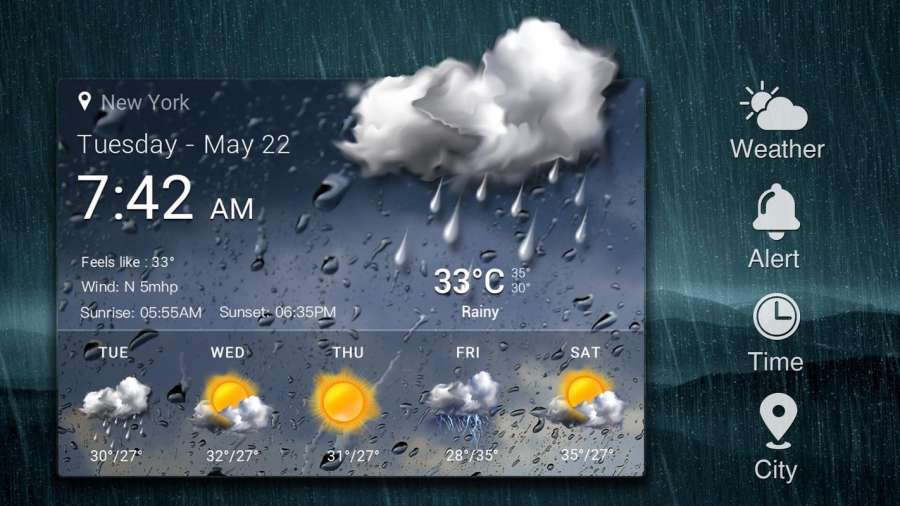 Weather Card with 5 Day Forecast截图4