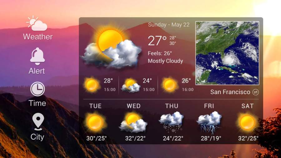 Weather Card with 5 Day Forecast截图6