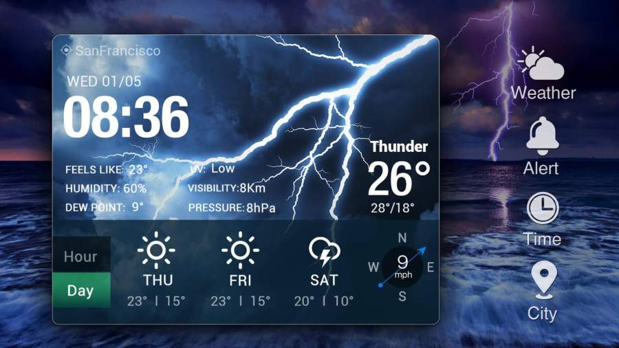 Weather Card with 5 Day Forecast截图8