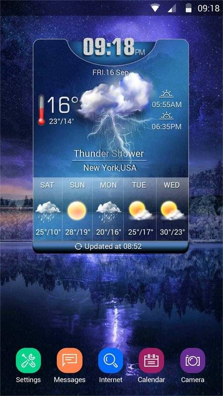 Weather Card with 5 Day Forecast截图9