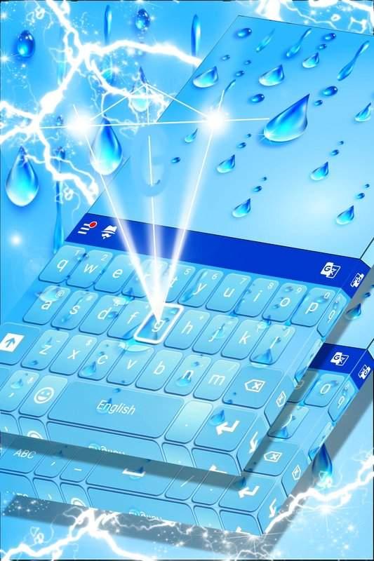 表情符号键盘的水主题