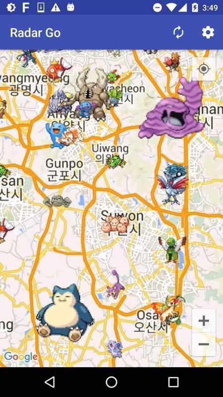 Radar Go (寶可夢 Pokemon 雷達&團體戰道館)截图0