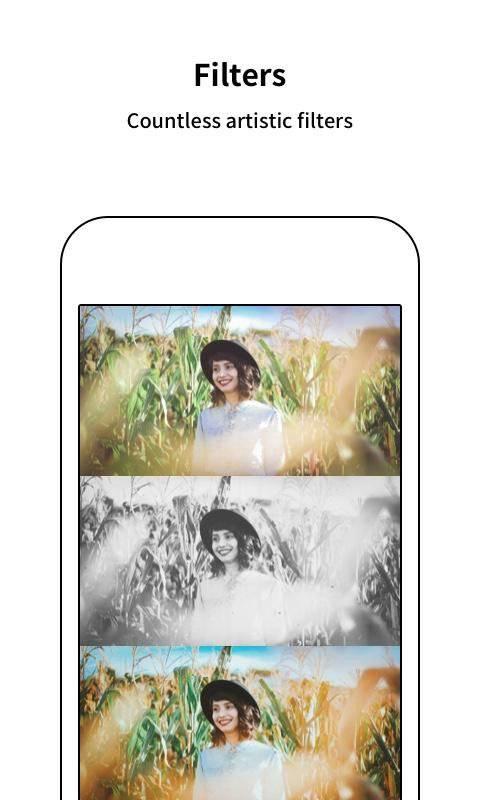 Philmera Photo Camera: Selfie Beauty Pic Editor截图0