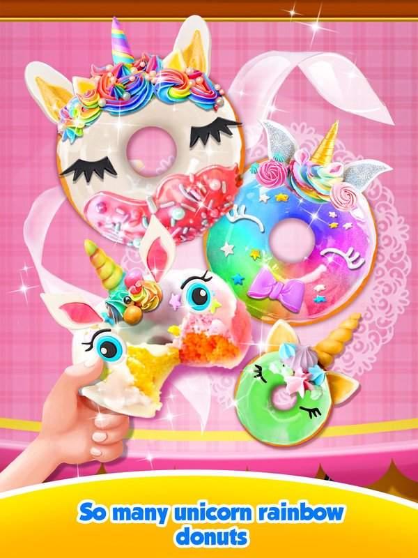 Unicorn Rainbow Donut - Sweet Desserts Bakery Chef截图0