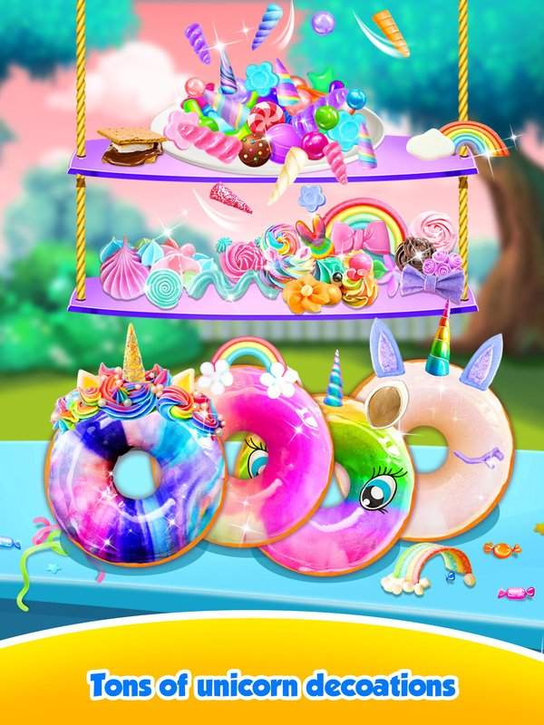 Unicorn Rainbow Donut - Sweet Desserts Bakery Chef截图1
