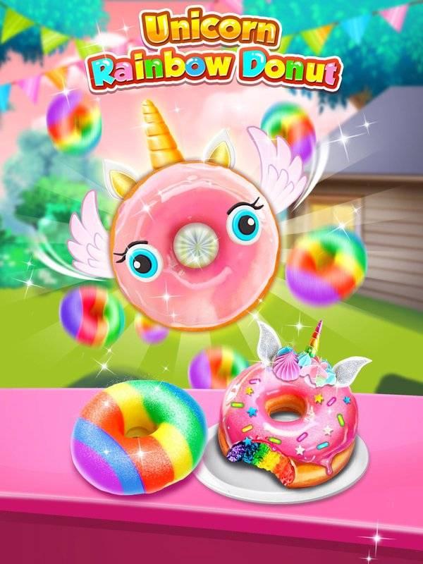 Unicorn Rainbow Donut - Sweet Desserts Bakery Chef截图2