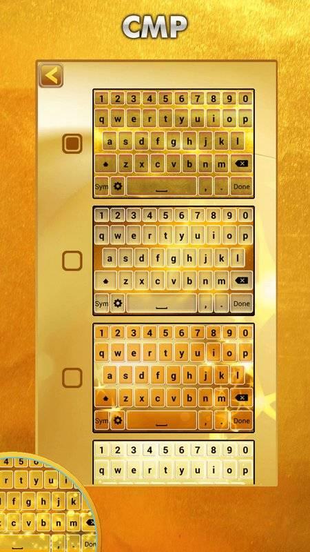 黄金主题键盘