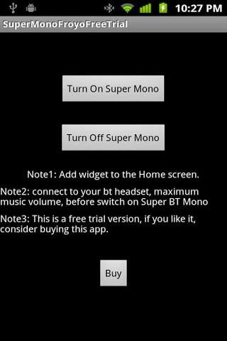 Super BT Mono Free Trial截图5