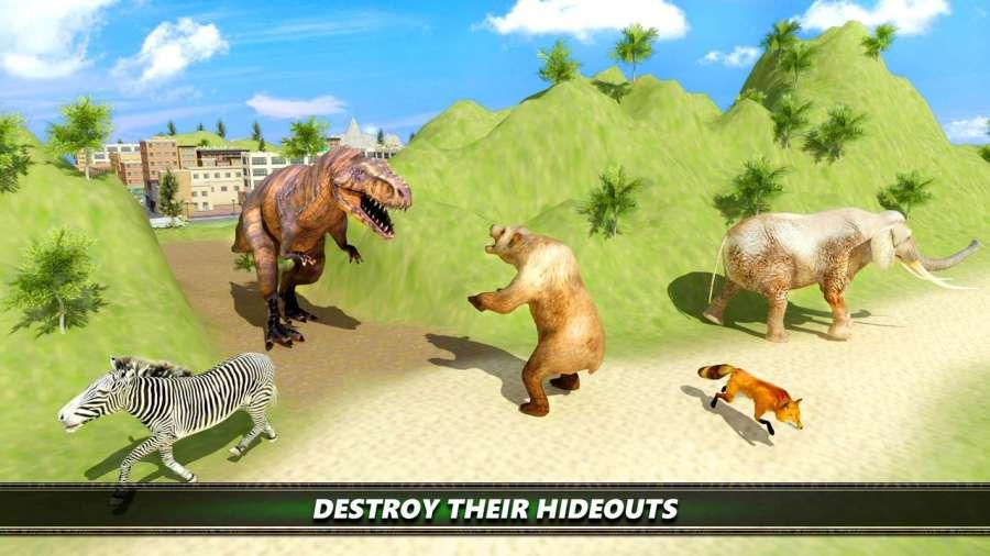 恐龙 模拟 2017年 -  迪诺 市 狩猎
