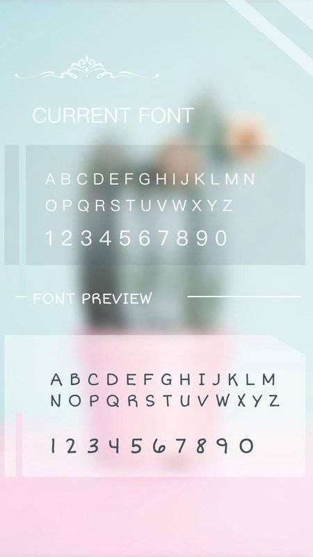 字體為FlipFont,酷字體文本免費截图1