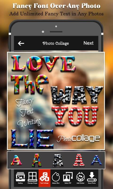 Text Photo Collage Maker截图5