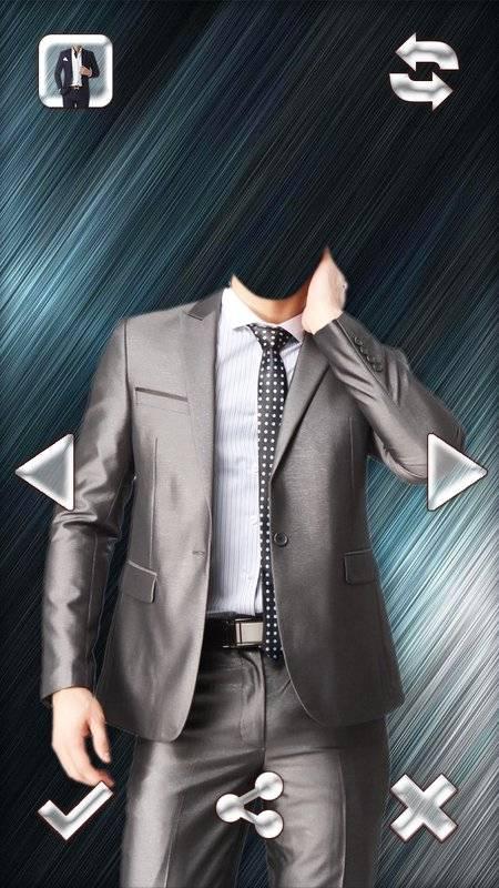 时尚男人的西装的照片编辑器截图0