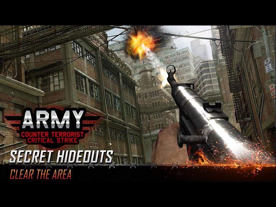 Army Counter Terrorist Critical Strike FPS截图10