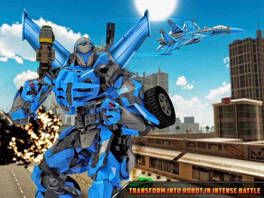 未来派飞机机器人变换 - 空气部队战争