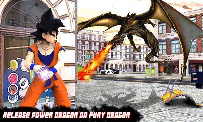 飞行狂怒龙vs超级悟空战士英雄截图0