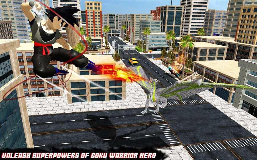 飞行狂怒龙vs超级悟空战士英雄截图3