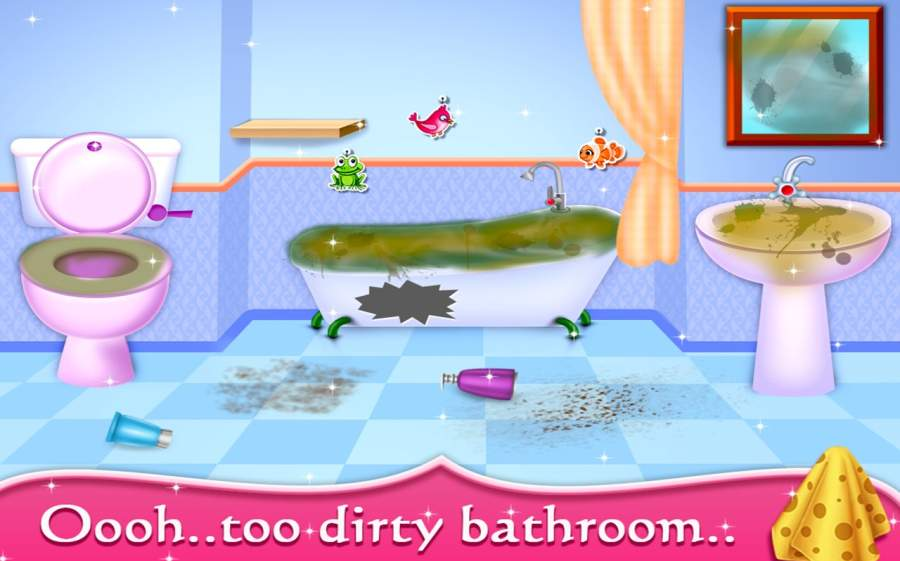 My Baby Doll House - Tea Party & Cleaning Game截图0