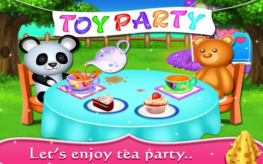 My Baby Doll House - Tea Party & Cleaning Game截图2